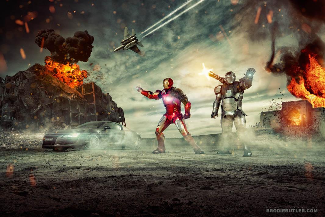 Ironman photoshop composite