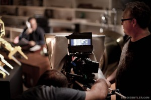 "Canon 5DMKII on set of ""23"" with James Cameron and Director A.J. Carter"