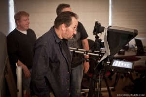 "Canon 5DMKII rig with Teleprompter for James Camerons ""23"" video"